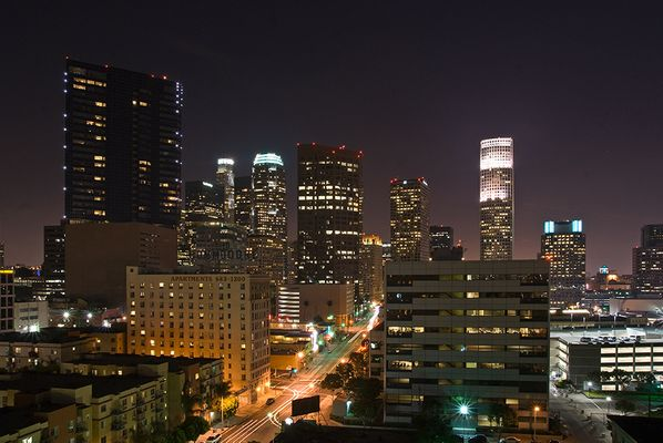 Los Angeles Downtown by Night