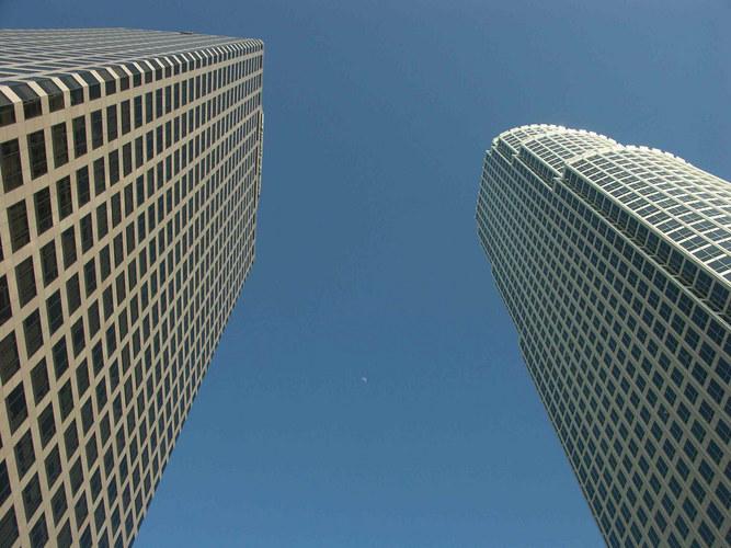 """Los Angeles Downtown """"von unten"""""""