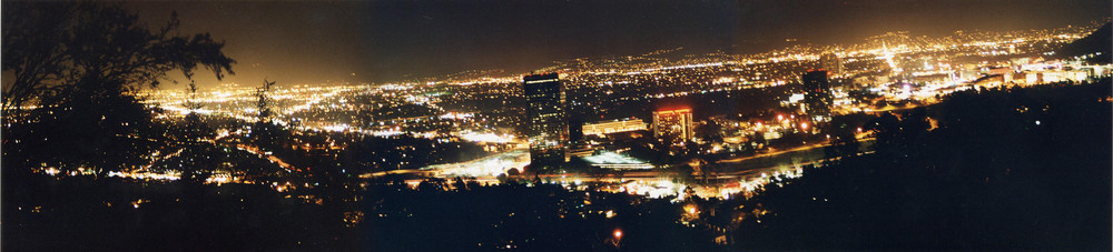 Los Angeles Panorama in der Nacht