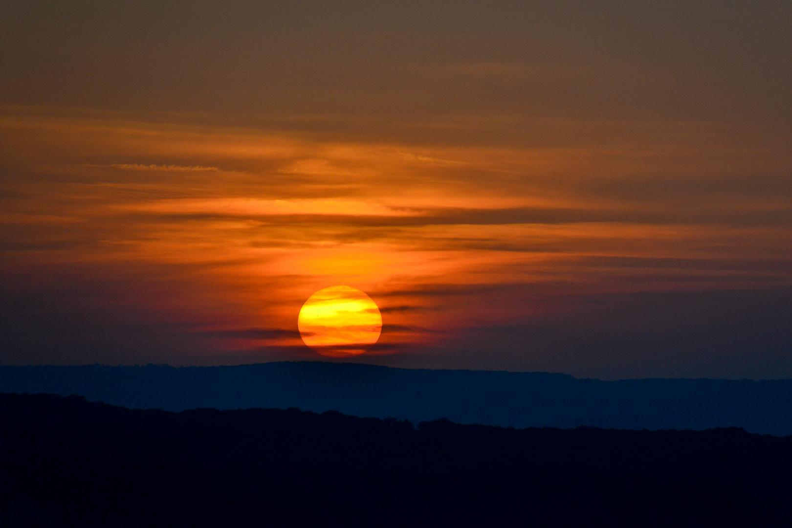 Lothringer Sonnenuntergang