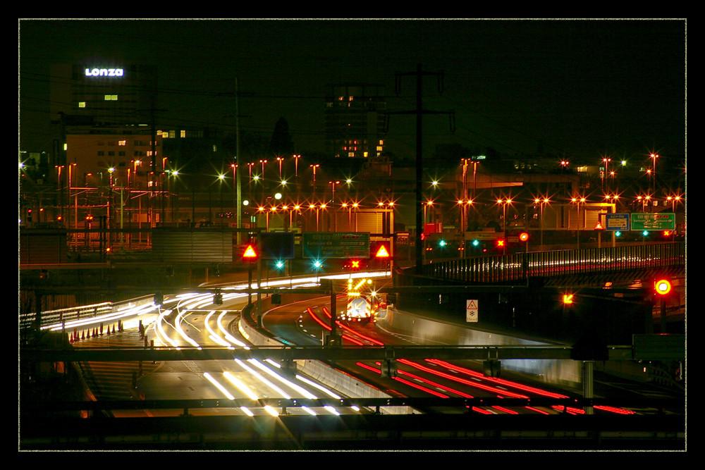 Lots of traffic(lights)