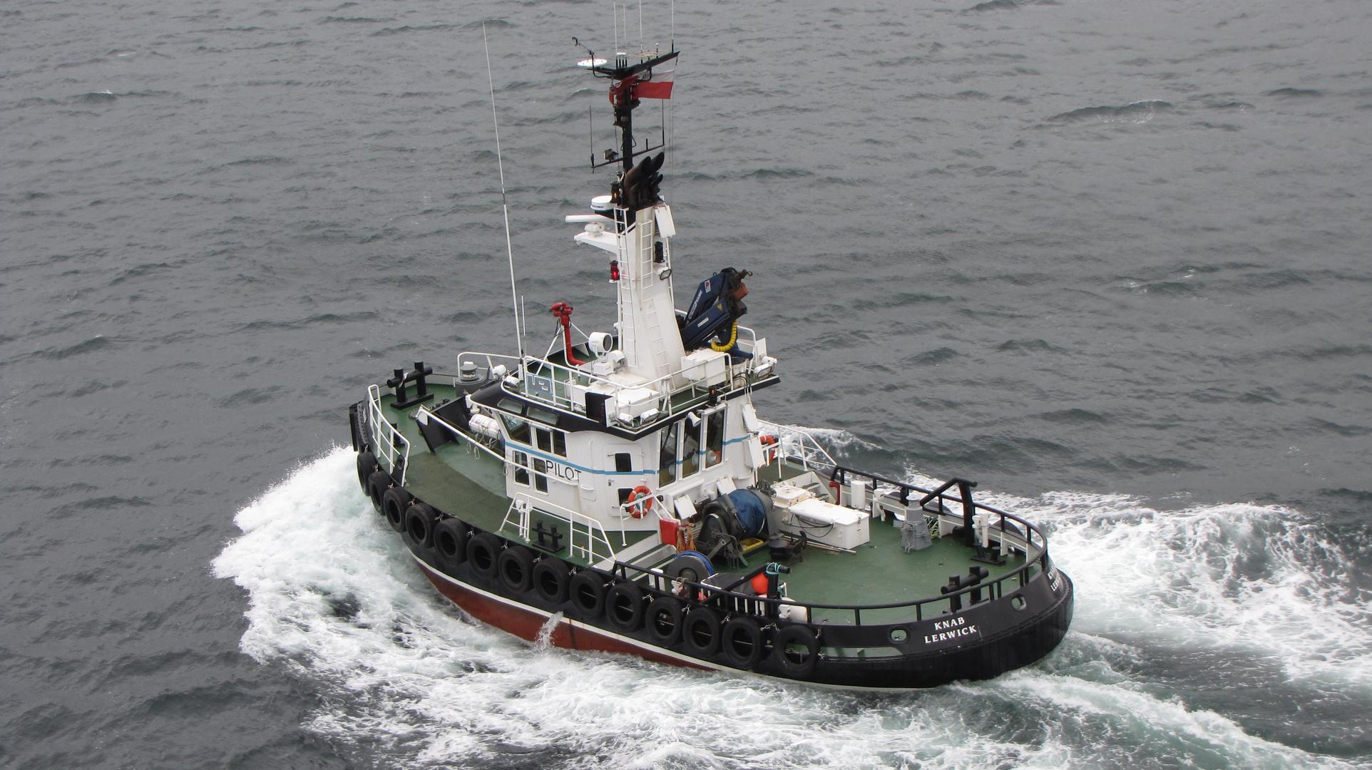 Lotsenschiff bei Schottland