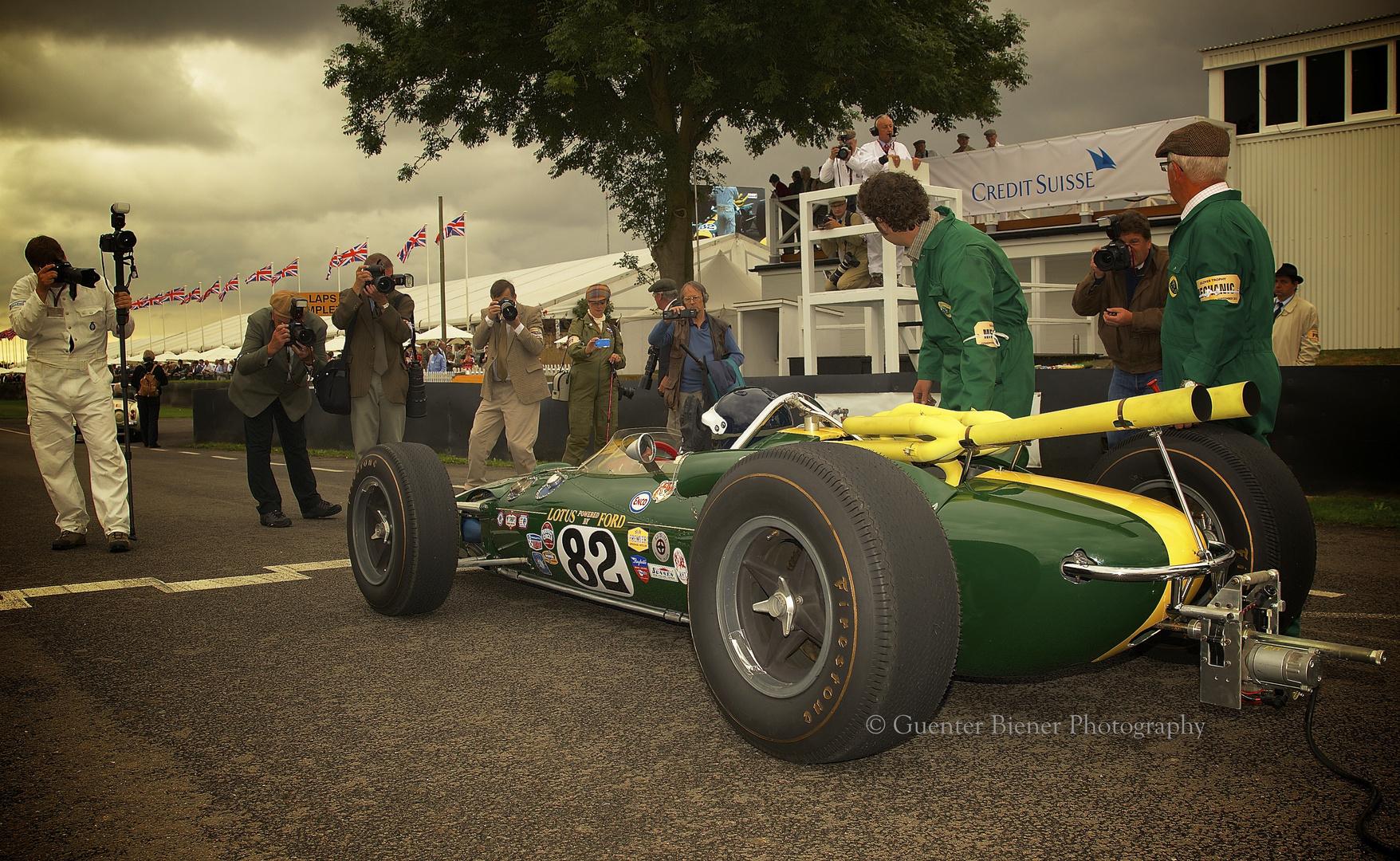 Lotus 38, Driver Dario Franchitti........