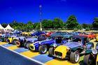 Lotus Seven ! symphonie de bleu et de jaune