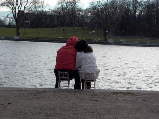 Love doesn't need big chairs.