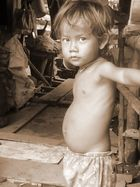Lovely face in the middle of a slum