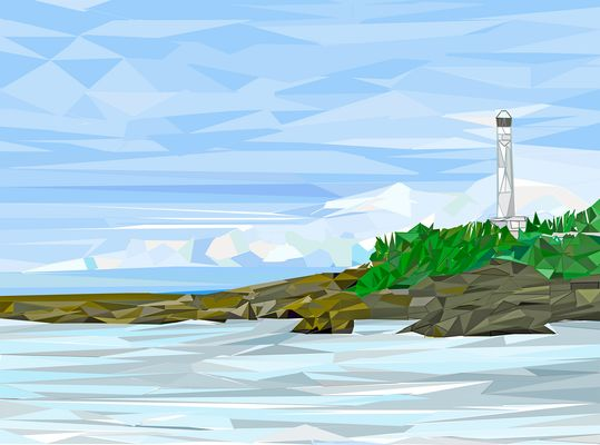 low poly phare