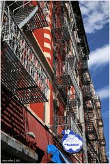 Lower East Side No. 1 - Fire Escapes and a Happy Soap Bubble