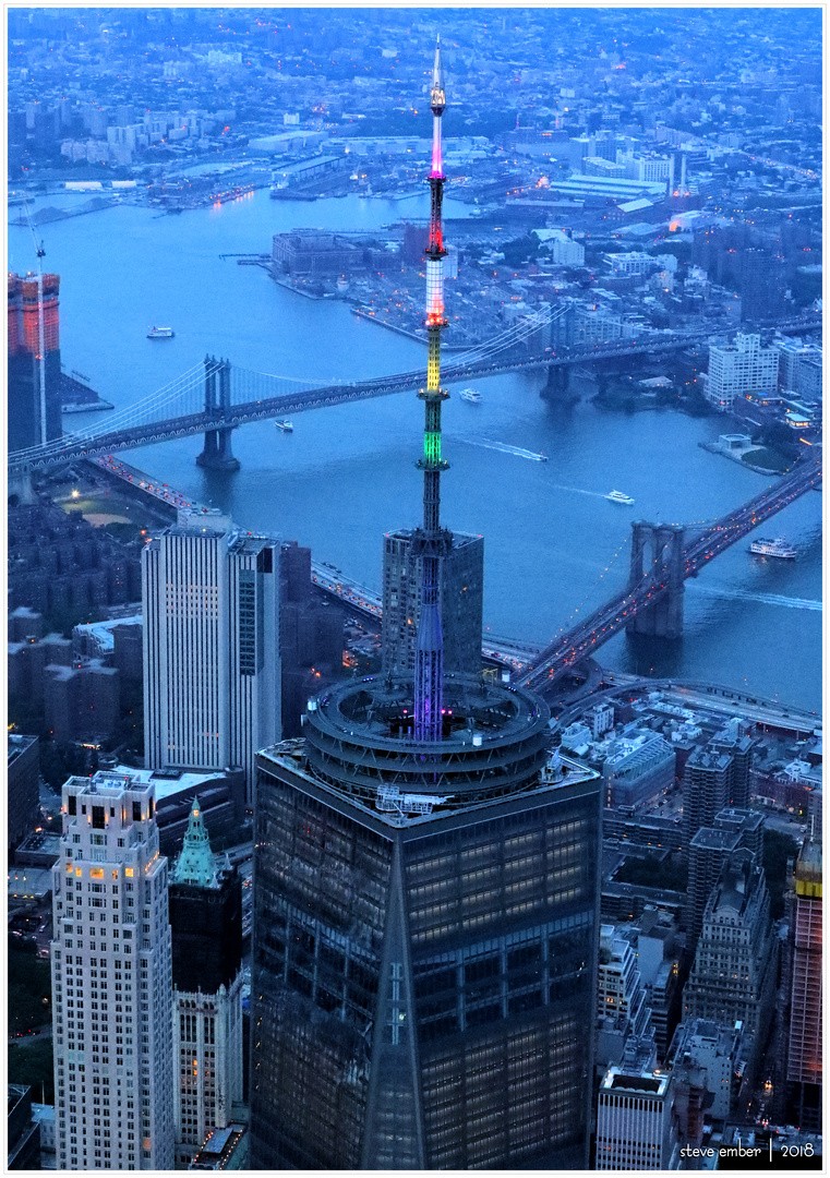 Lower Manhattan in Blue Hour