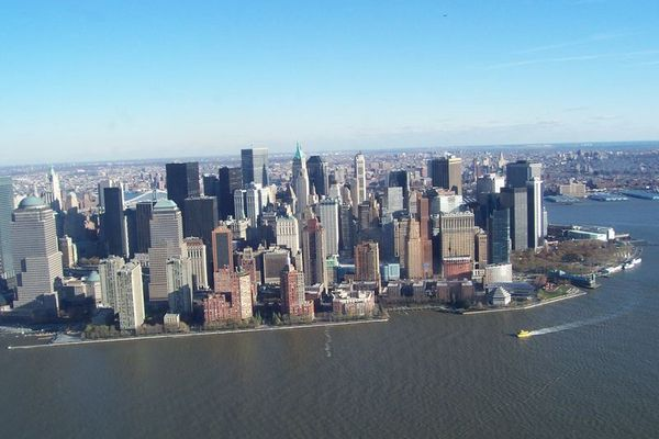 Lower Manhatten.......... view from Helicopter