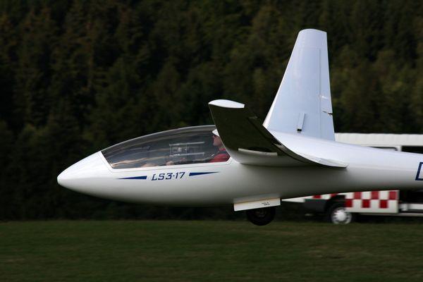 Ls3 im Anflug auf die Ithwiesen