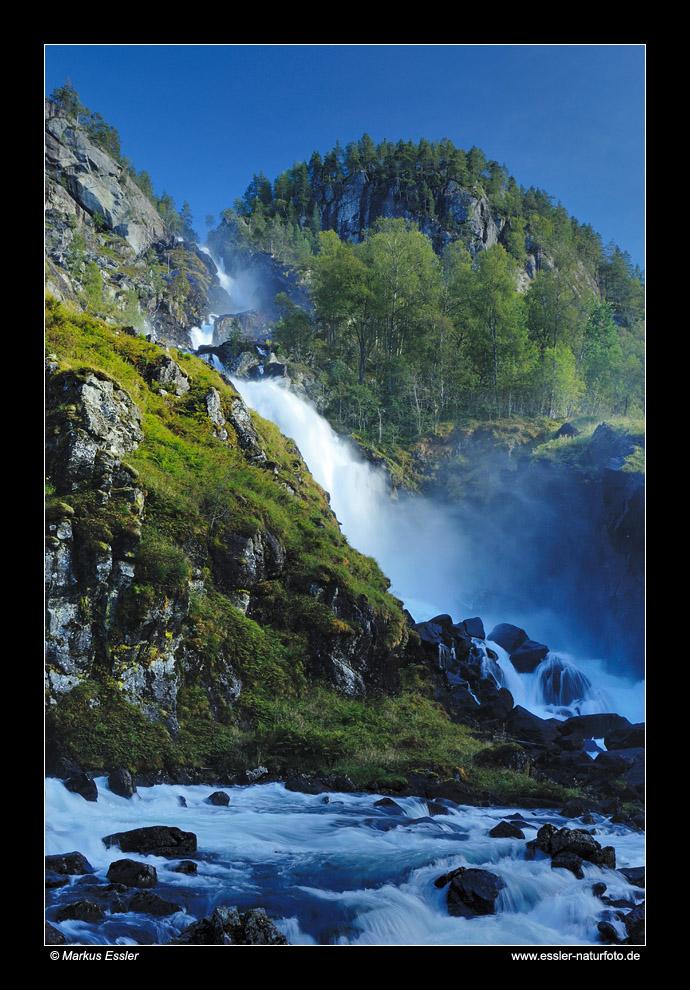 Låtefoss im Oddadalen • Hordaland, Norwegen (83-21874)