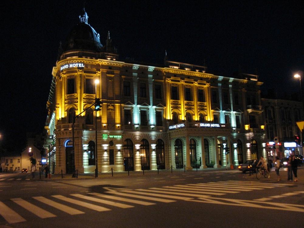 Lublin w nocy.