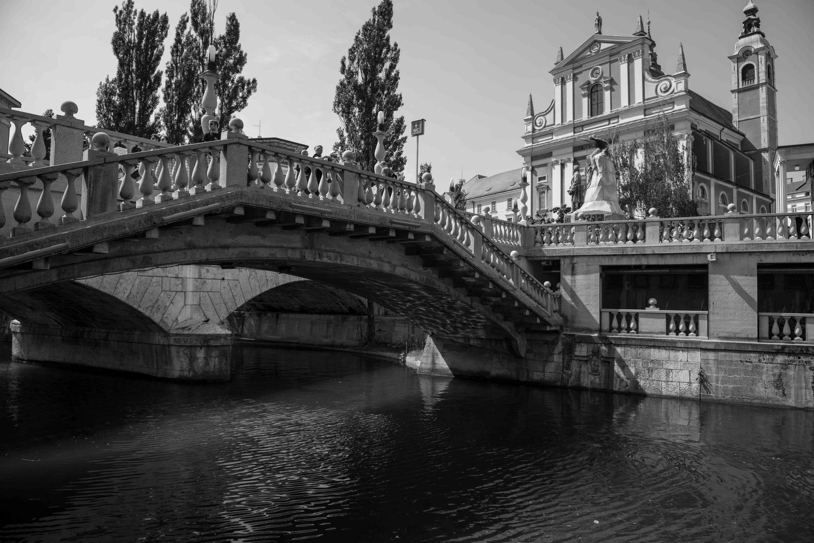 Lubljana - The triple bridge