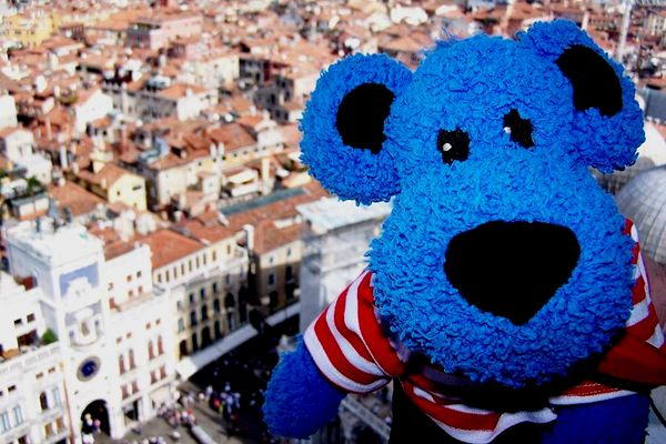 Luc in Venedig - Blick vom Campanile