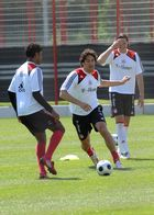 Luca Toni beim FC Bayern Training am 14.05.2008