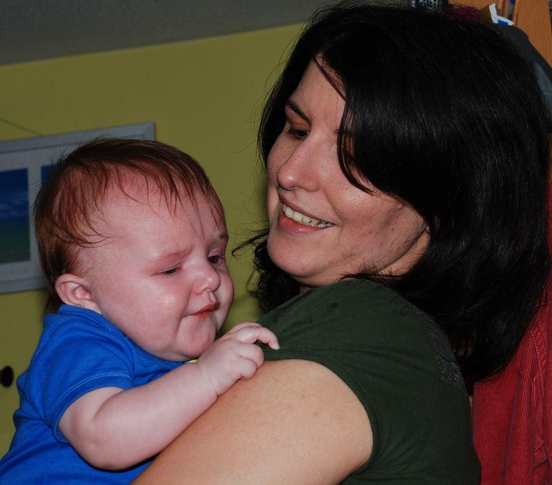 Lucas with mum