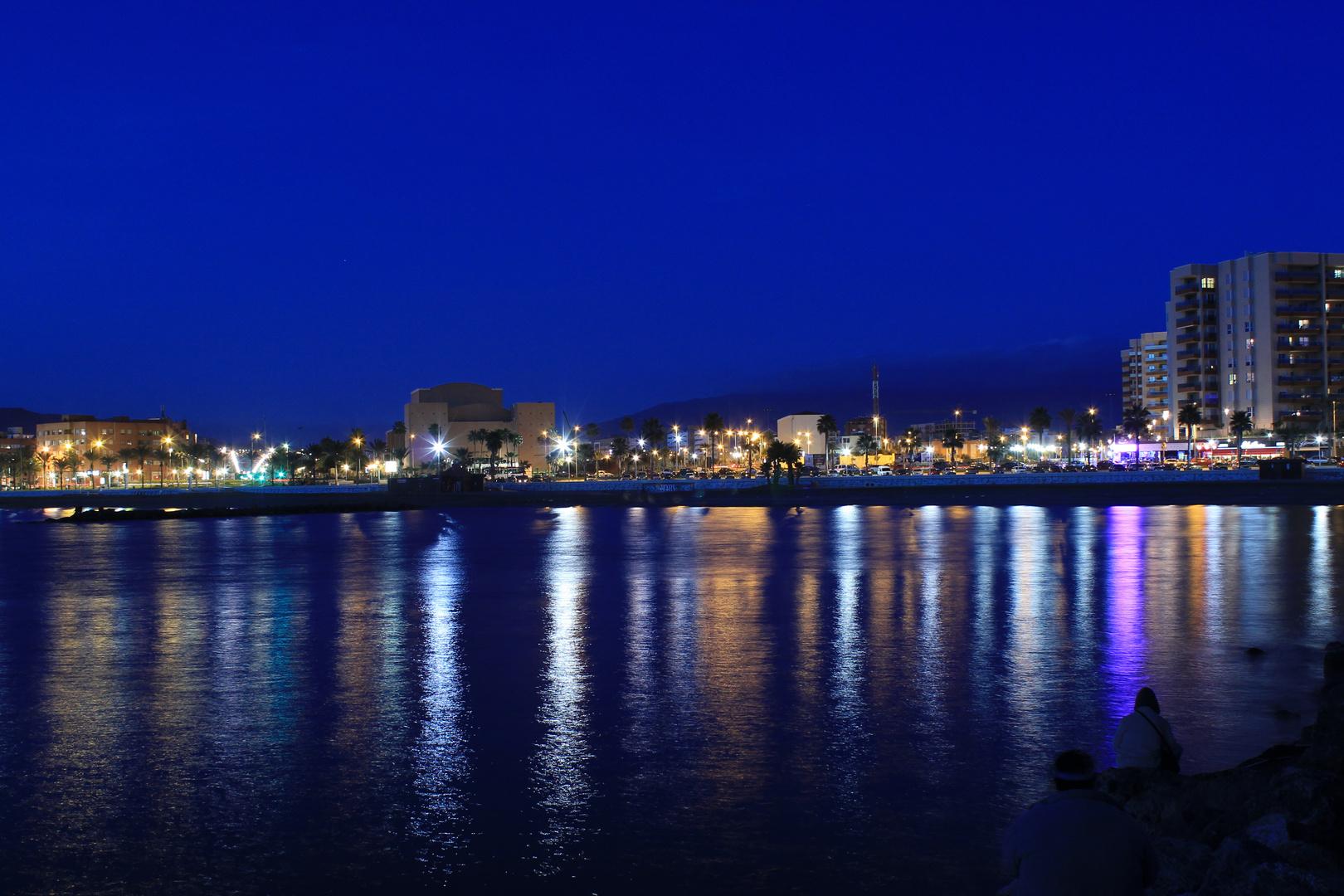 luces que reflejan la ciudad
