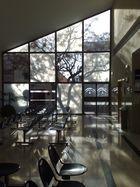 Luces y sombras que juegan en la sala de espera