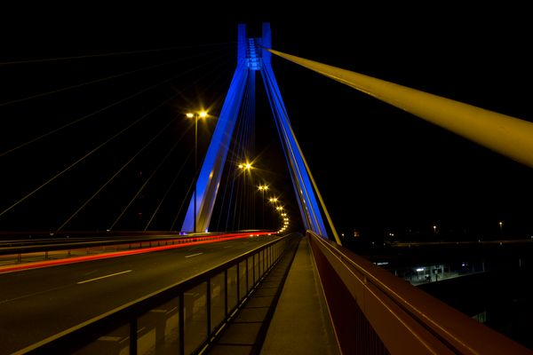 Ludwigshafener Brücke bei Nacht