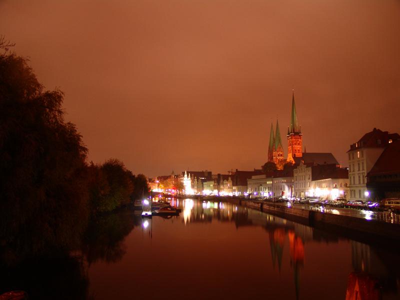 Lübeck at night