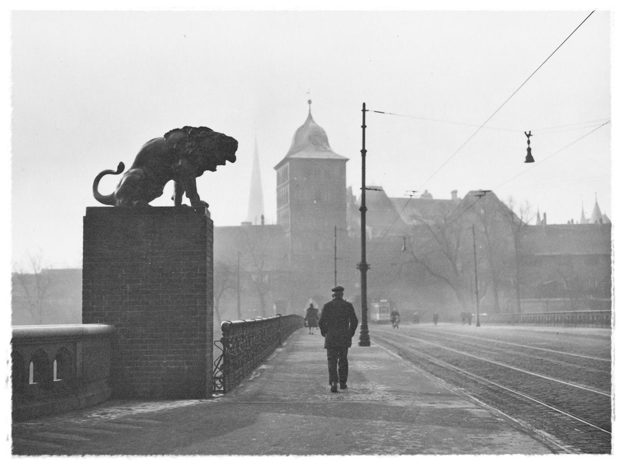 Lübeck Burgtorbrücke; vor 1940