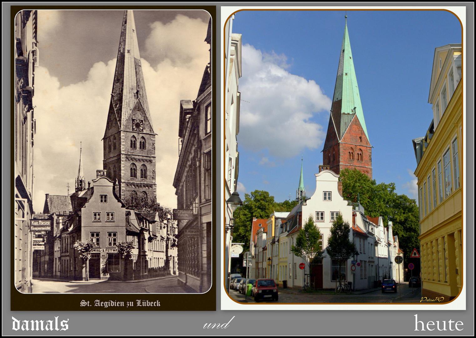 Lübeck - damals und heute