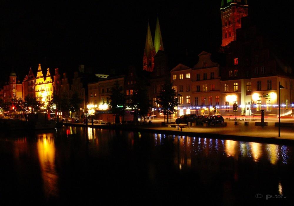 Lübeck  -  Hochwasser an der Obertrave
