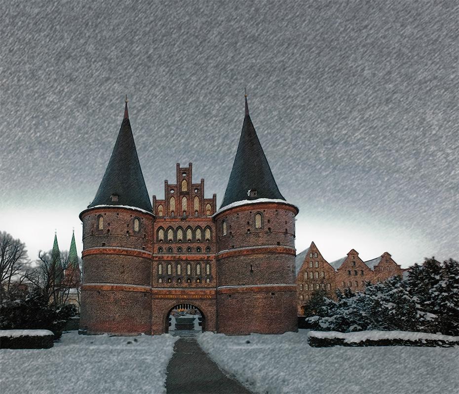 Lübeck, Holstentor 2013.03.12