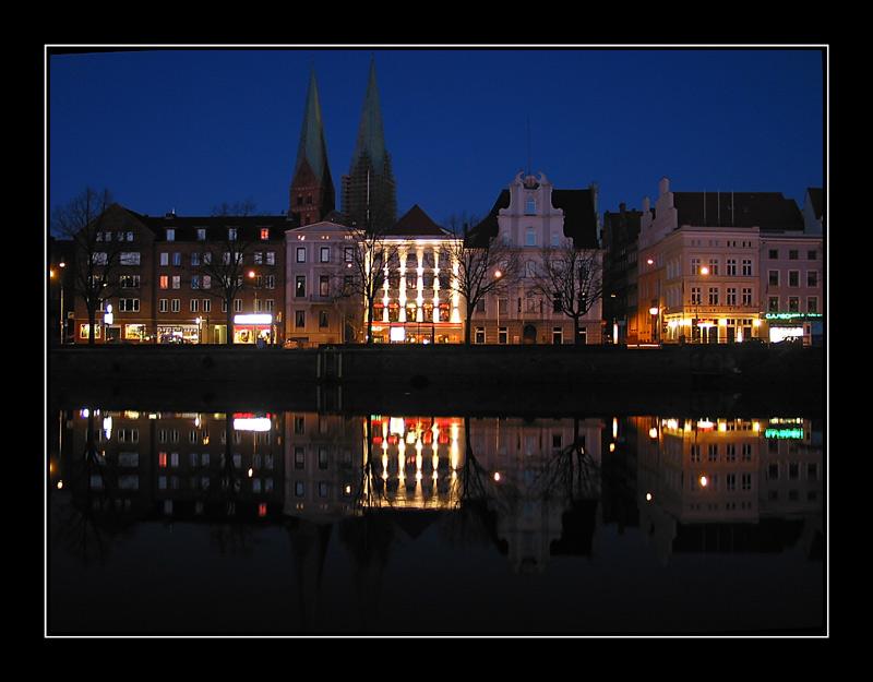 Lübeck - Untertrave am Abend 3
