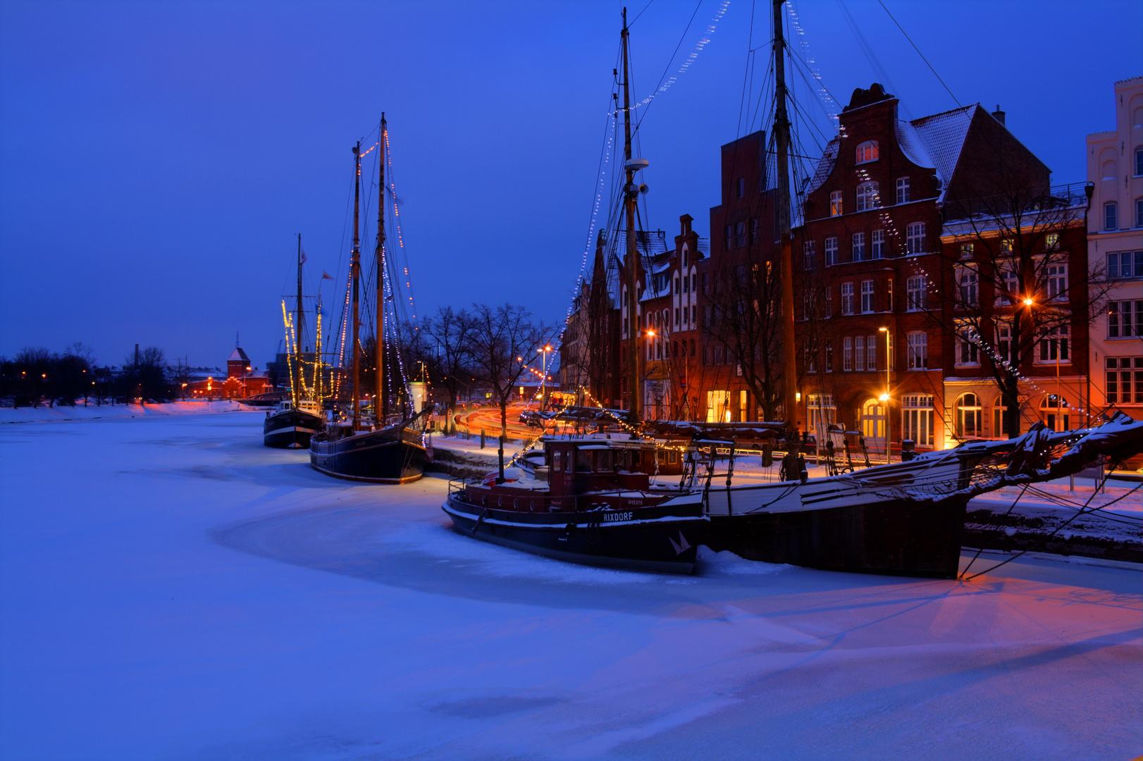 Lübeck Untertrave Winter 2010