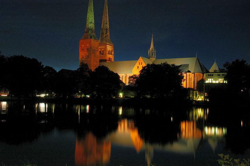 Lübecker Dom gestern Abend 2.