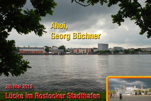 Lücke im Rostocker Stadthafen