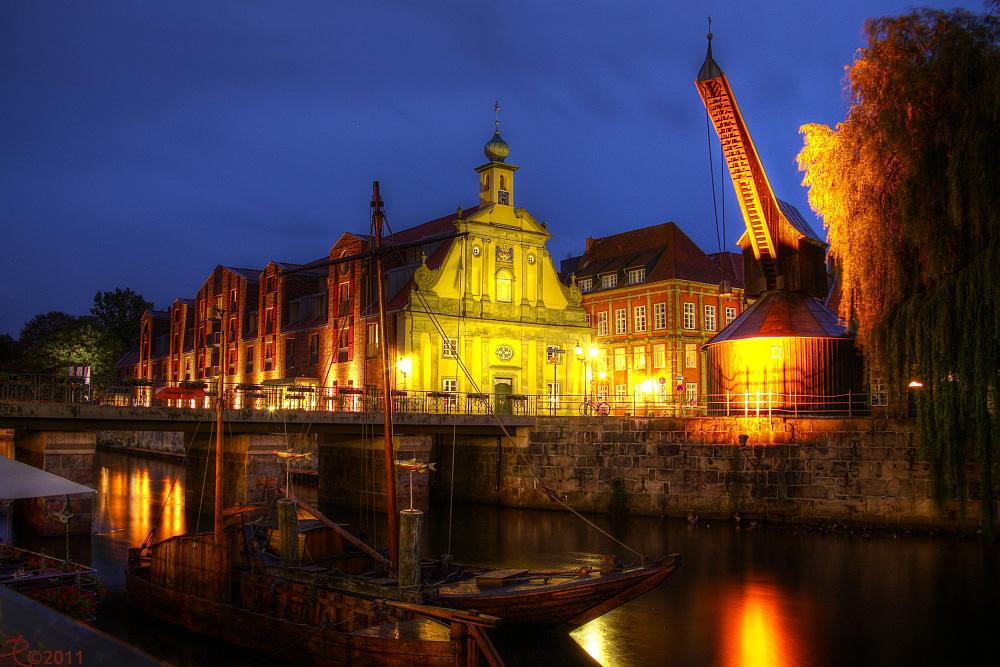 Lüneburg - Alter Kran am alten Hafen