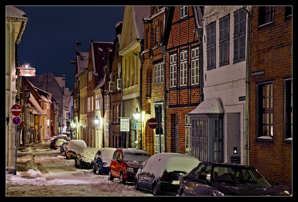Lüneburg im Schnee - Auf der Altstadt