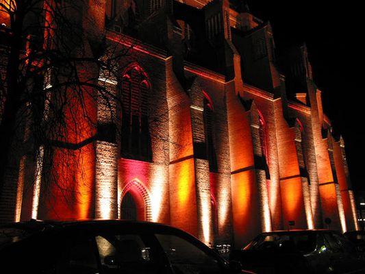 Lüneburgs Kirche bei Nacht Foto 3