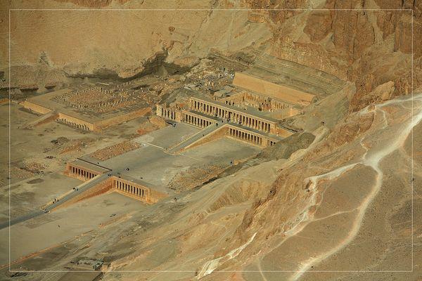 Luftaufnahme Tempel der Hatschepsut