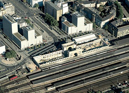 luftbild hauptbahnhof mannheim,sanierung