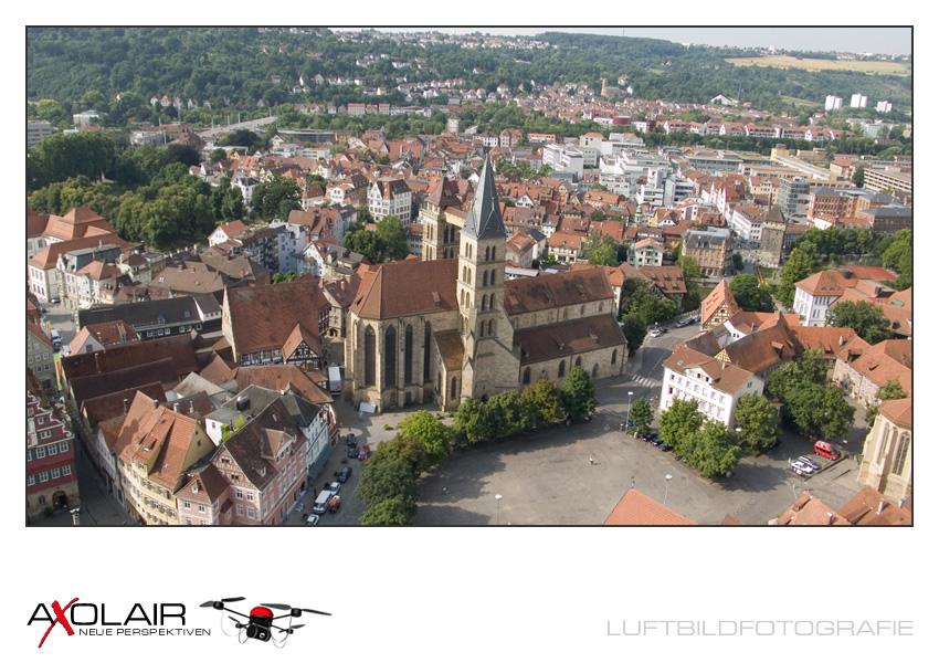 LUFTBILD: Kirche, Esslingen