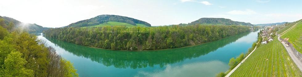 Luftbild Panorama Rhein