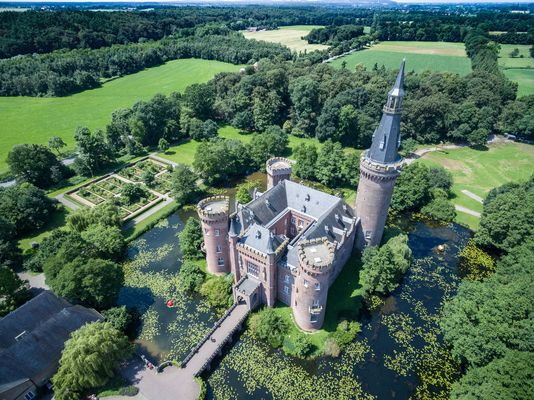 Luftbild Schloss Moyland