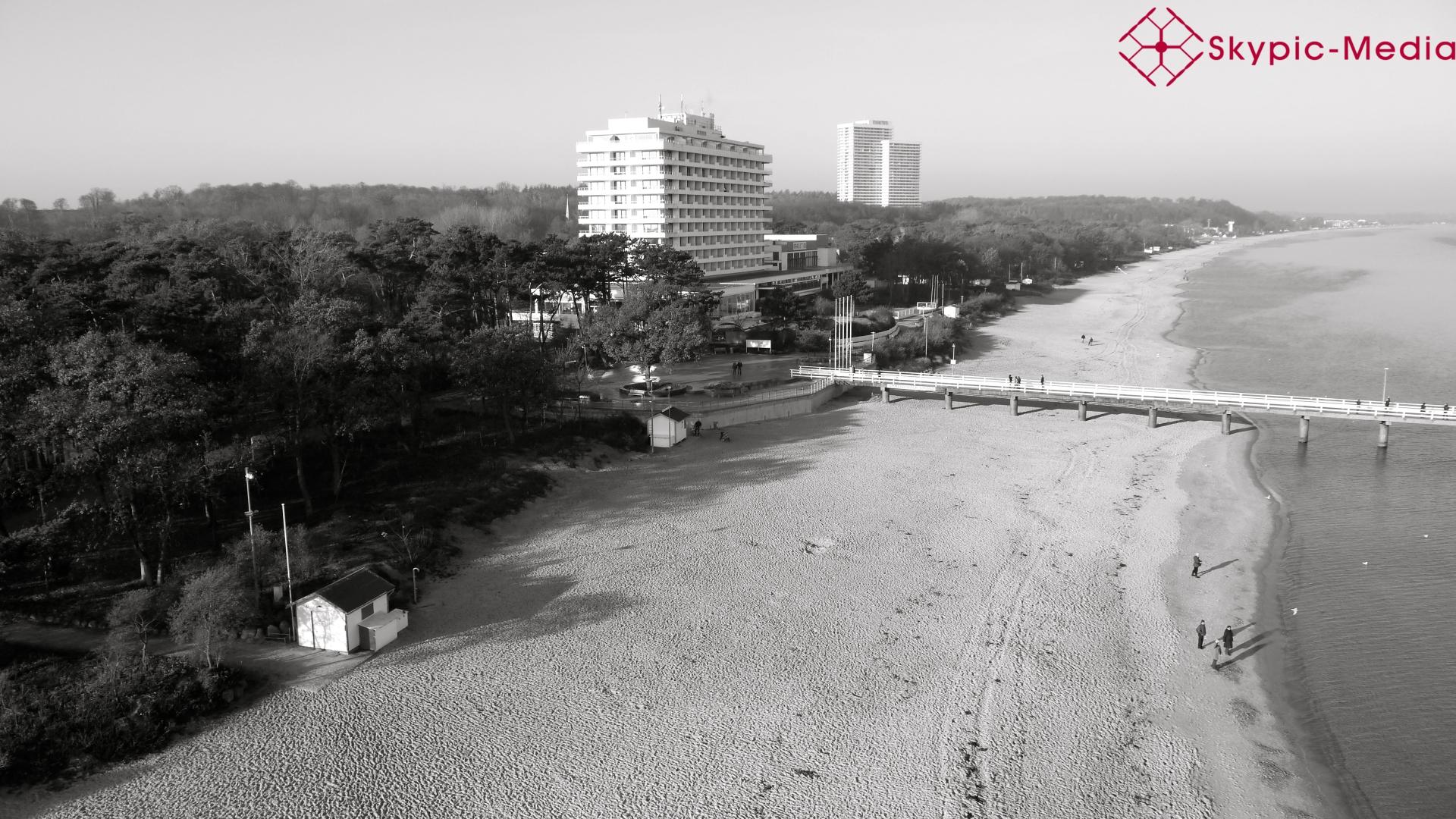Luftbild vom Strand