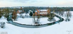« Luftbild Wasserschloss Herten im Winter »