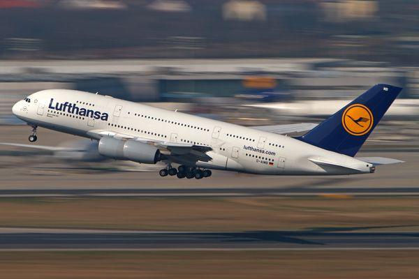 Lufthansa A380 departure
