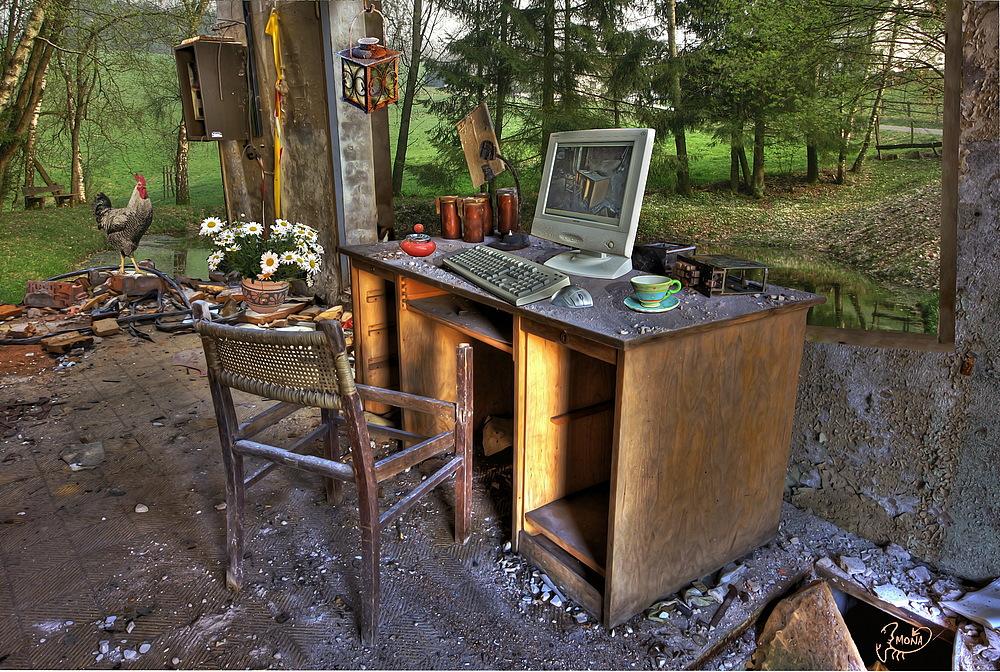 luftiges Büro