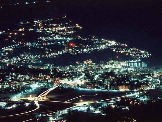 Lugano/Monte Bre bei Nacht