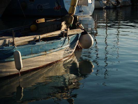 Lumière d'hiver au port du Cros