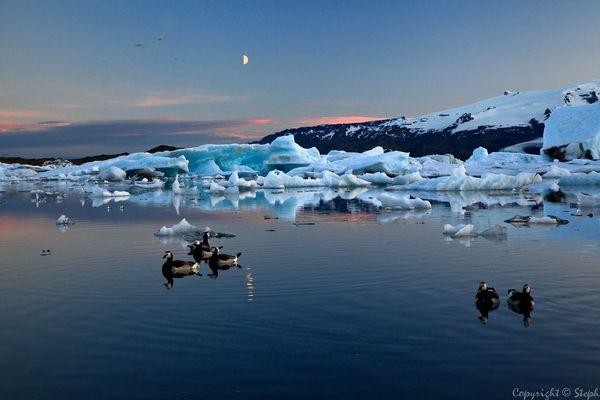 Lumières d'Islande XIX - Le lac glaciaire Jokulsarlon