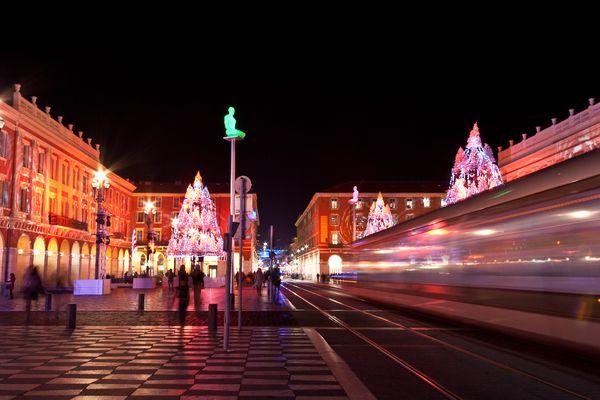 Lumières sur la ville : Nice