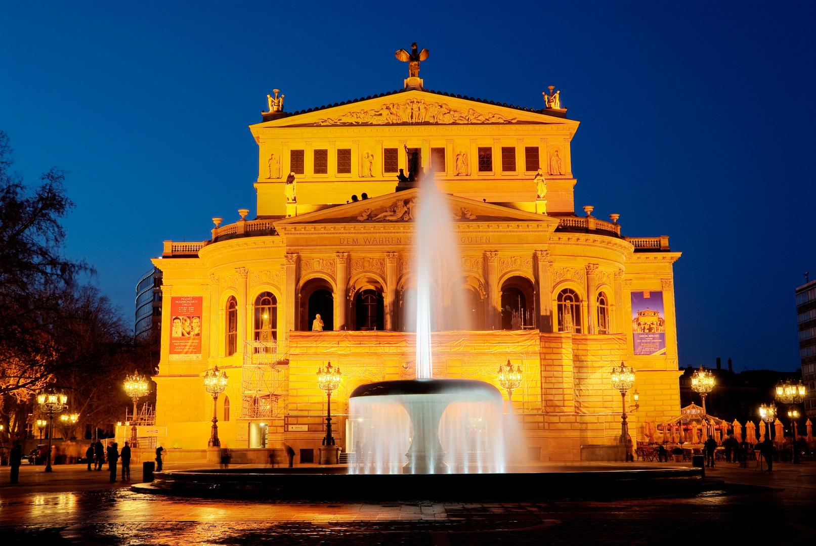Luminale 2010, Brunnen vor Alte Oper